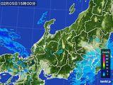 雨雲レーダー(2015年02月05日)