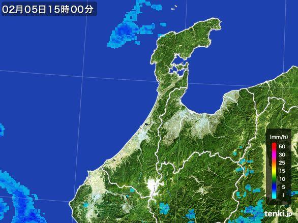 石川県の雨雲レーダー(2015年02月05日)