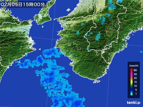 和歌山県の雨雲レーダー(2015年02月05日)