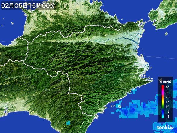 徳島県の雨雲レーダー(2015年02月05日)