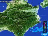 2015年02月05日の徳島県の雨雲の動き