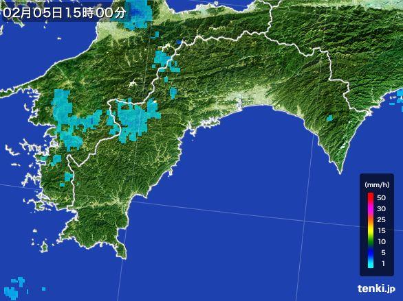 高知県の雨雲レーダー(2015年02月05日)