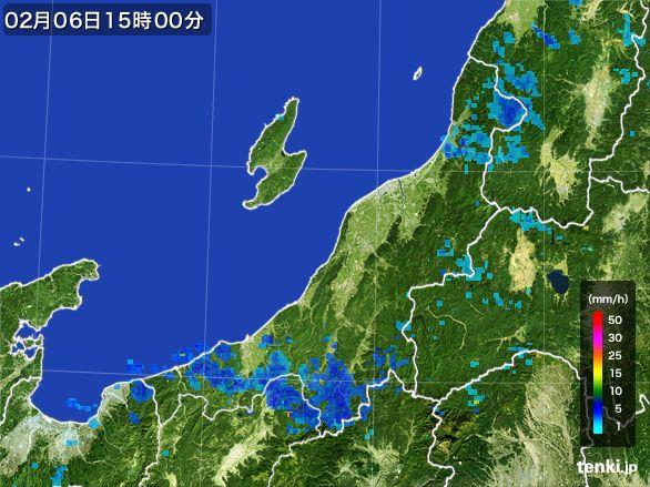 新潟県の雨雲レーダー(2015年02月06日)