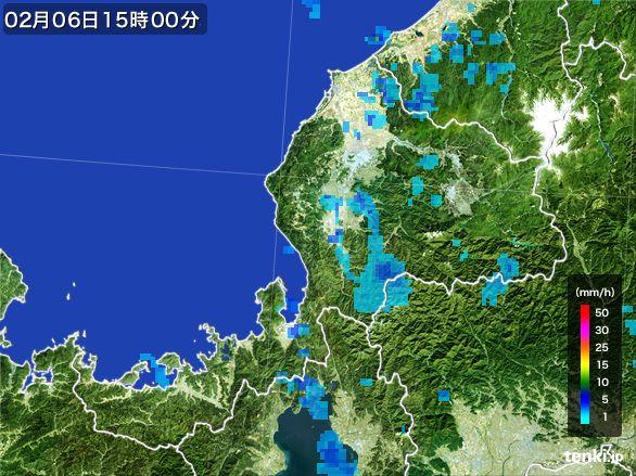 福井県の雨雲レーダー(2015年02月06日)