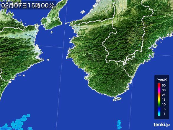 和歌山県の雨雲レーダー(2015年02月07日)
