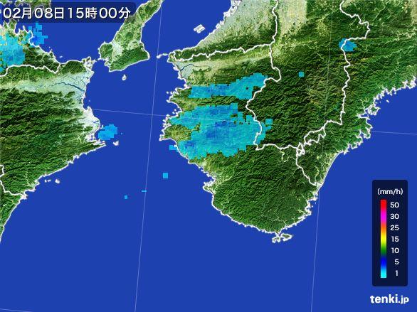 和歌山県の雨雲レーダー(2015年02月08日)