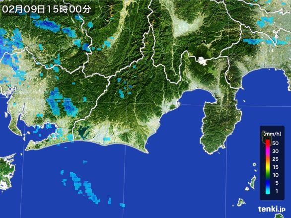 静岡県の雨雲レーダー(2015年02月09日)