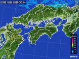 雨雲レーダー(2015年02月10日)