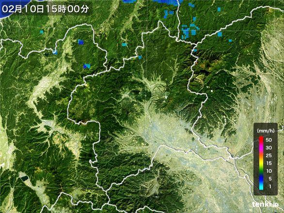 群馬県の雨雲レーダー(2015年02月10日)