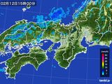 雨雲レーダー(2015年02月12日)