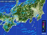 雨雲レーダー(2015年02月13日)