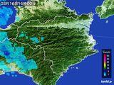 2015年02月16日の徳島県の雨雲の動き