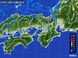 2015年02月18日の近畿地方の雨雲レーダー