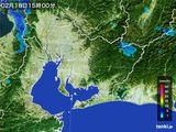 雨雲レーダー(2015年02月18日)