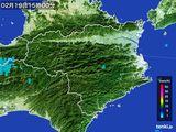2015年02月19日の徳島県の雨雲の動き