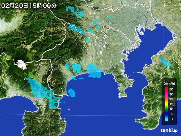 神奈川県の雨雲レーダー(2015年02月20日)