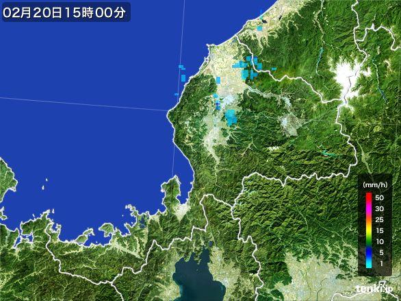 福井県の雨雲レーダー(2015年02月20日)