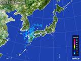 2015年02月21日の雨雲の動き