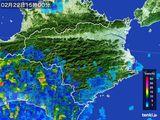 2015年02月22日の徳島県の雨雲の動き