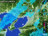 2015年02月23日の大阪府の雨雲レーダー