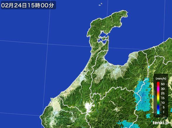 石川県の雨雲レーダー(2015年02月24日)