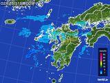 雨雲レーダー(2015年02月25日)