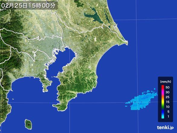 千葉県の雨雲レーダー(2015年02月25日)