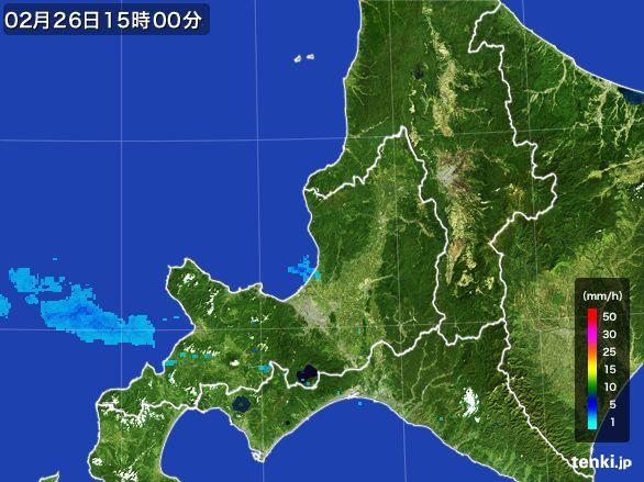 道央の雨雲レーダー(2015年02月26日)