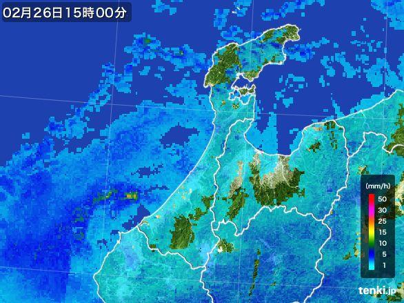 石川県の雨雲レーダー(2015年02月26日)