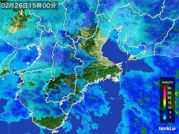 三重県の雨雲レーダー(2015年02月26日)