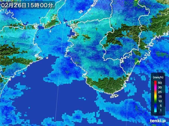和歌山県の雨雲レーダー(2015年02月26日)