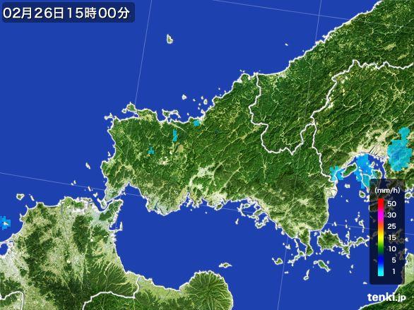 山口県の雨雲レーダー(2015年02月26日)