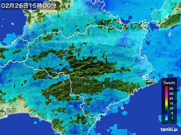 徳島県の雨雲の動き(2015年02月26日)