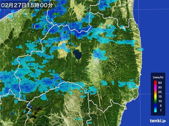 福島県の雨雲レーダー(2015年02月27日)