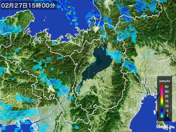 滋賀県の雨雲レーダー(2015年02月27日)