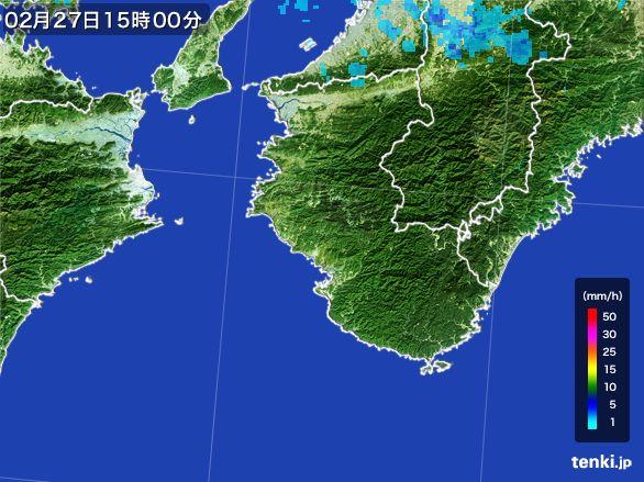 和歌山県の雨雲レーダー(2015年02月27日)