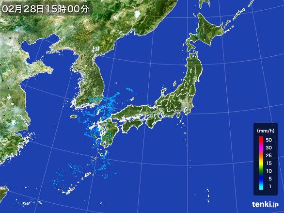 雨雲レーダー(2015年02月28日)