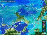 2015年03月03日の兵庫県の雨雲レーダー