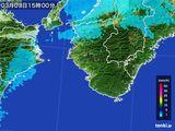 2015年03月03日の和歌山県の雨雲レーダー