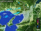2015年03月05日の大阪府の雨雲レーダー