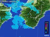 2015年03月06日の和歌山県の雨雲レーダー
