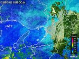 2015年03月09日の大阪府の雨雲レーダー