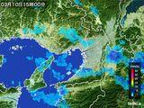 2015年03月10日の大阪府の雨雲レーダー