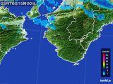 2015年03月10日の和歌山県の雨雲レーダー