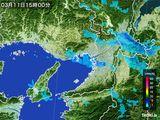 2015年03月11日の大阪府の雨雲レーダー