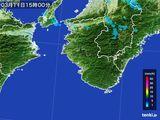 2015年03月11日の和歌山県の雨雲レーダー