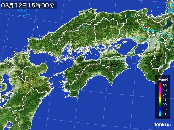 四国地方の雨雲レーダー(2015年03月12日)