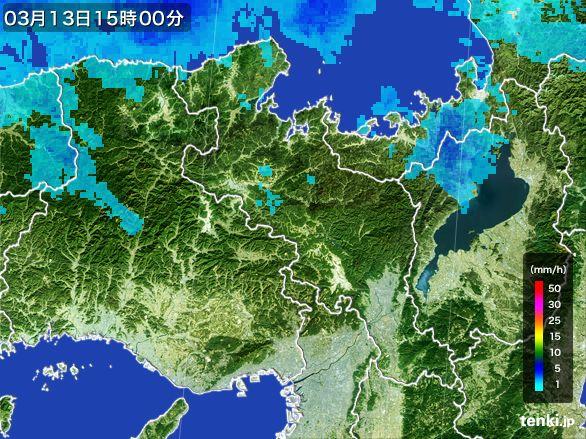 京都府の雨雲レーダー(2015年03月13日)