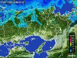 2015年03月13日の兵庫県の雨雲レーダー