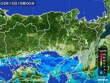 2015年03月15日の兵庫県の雨雲レーダー